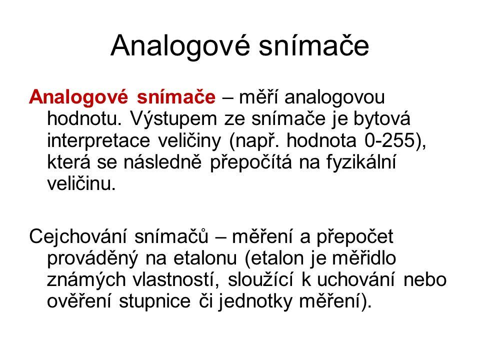 Analogové snímače