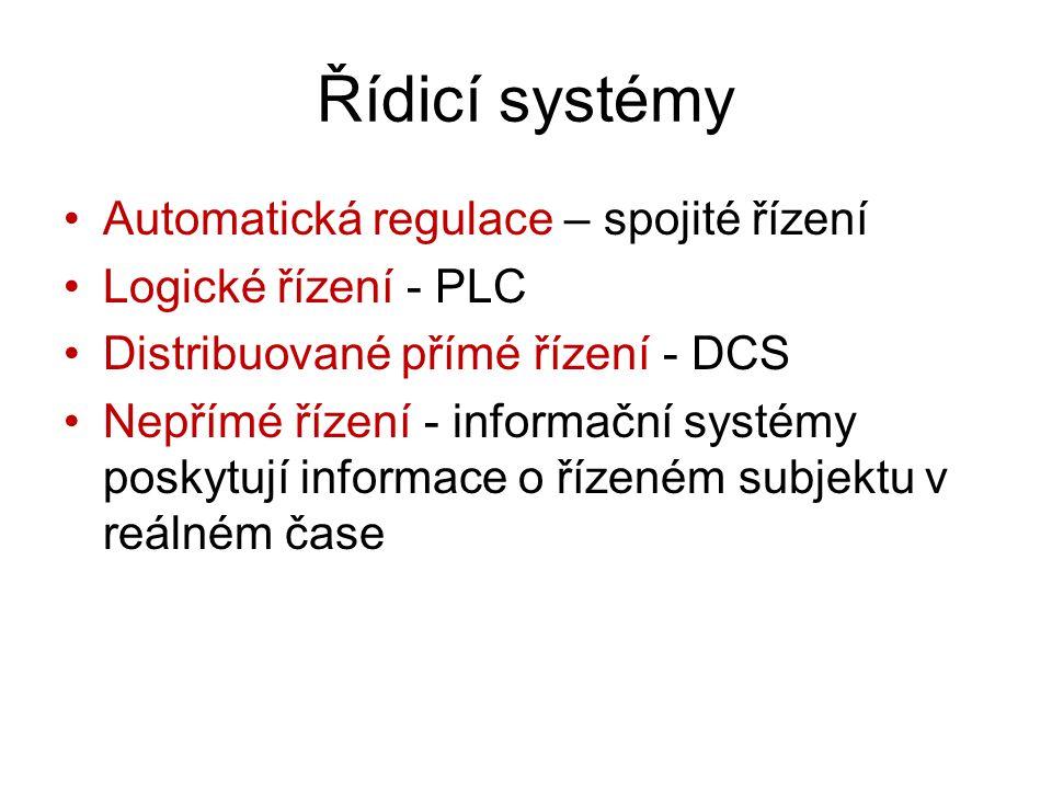 Řídicí systémy Automatická regulace – spojité řízení