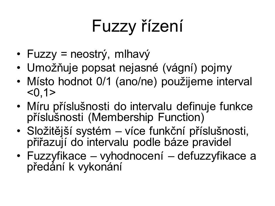 Fuzzy řízení Fuzzy = neostrý, mlhavý