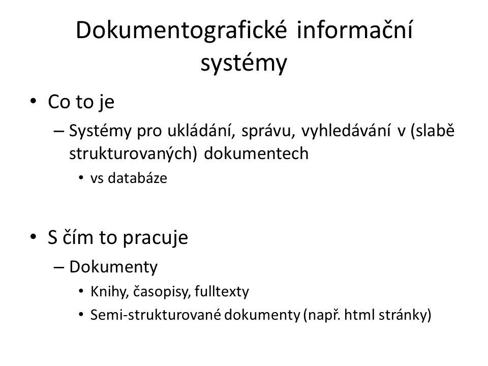 Dokumentografické informační systémy