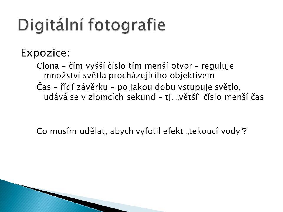 Digitální fotografie Expozice: