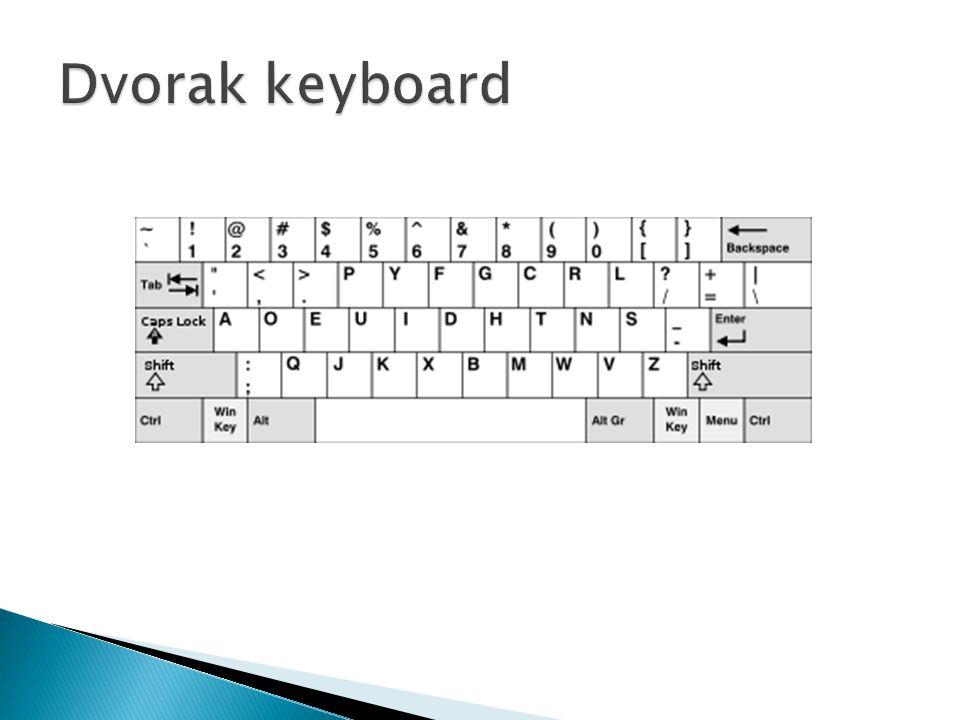 Dvorak keyboard