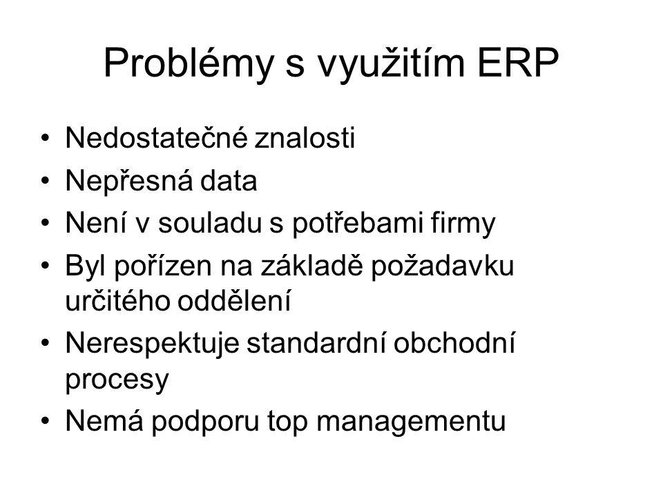 Problémy s využitím ERP