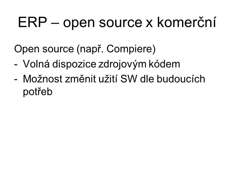 ERP – open source x komerční
