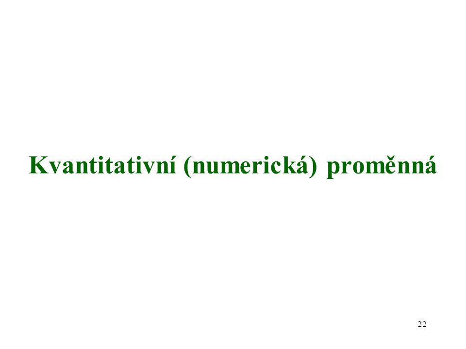 Kvantitativní (numerická) proměnná