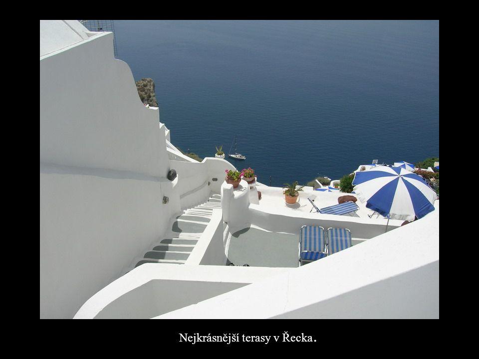 Nejkrásnější terasy v Řecka.