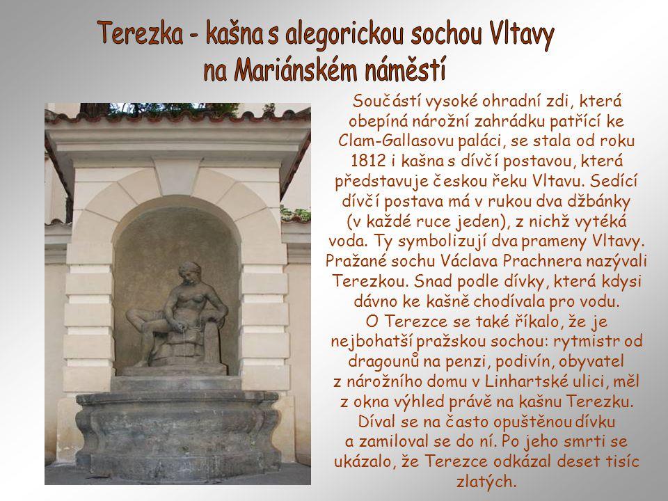 Terezka - kašna s alegorickou sochou Vltavy