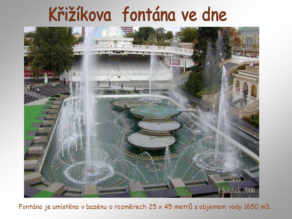 Křižíkova fontána ve dne
