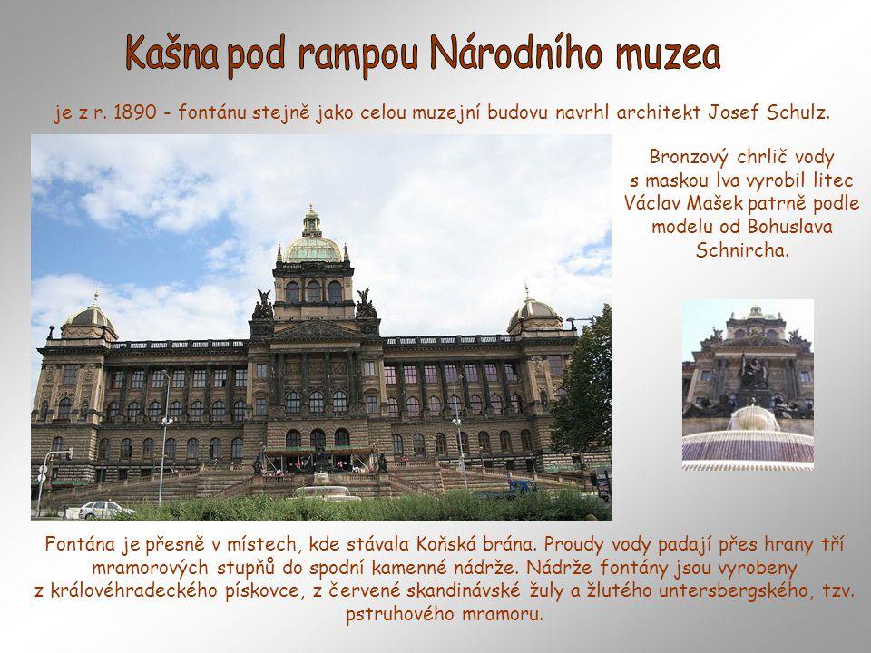 Kašna pod rampou Národního muzea