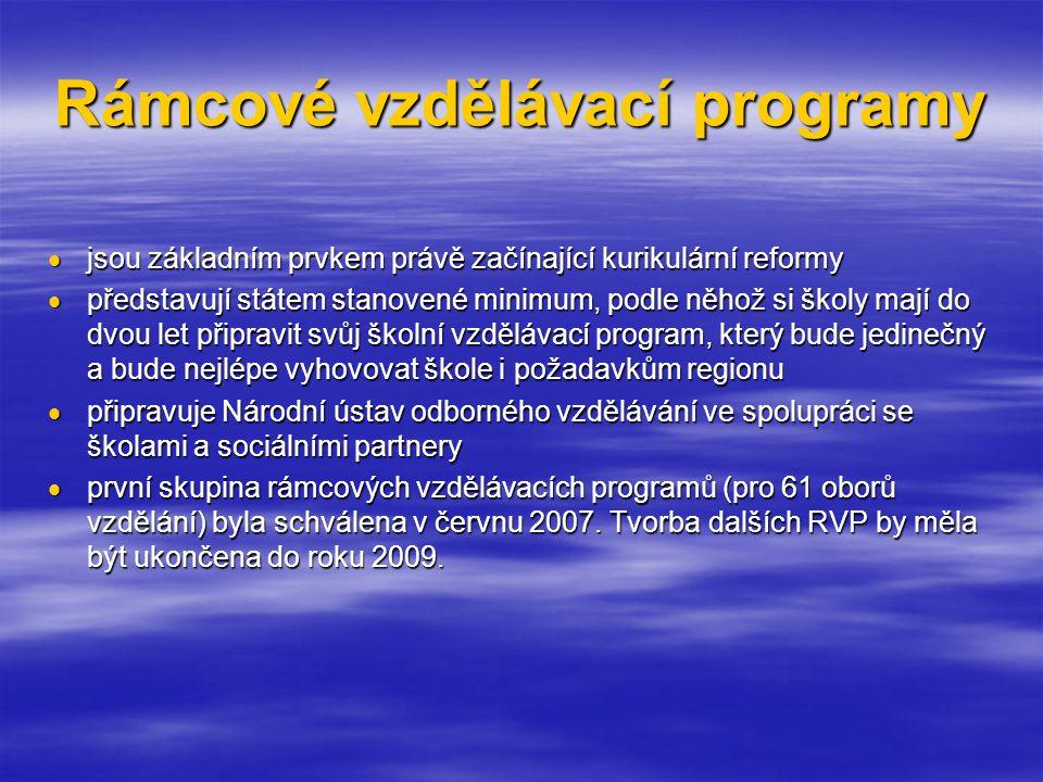 Rámcové vzdělávací programy