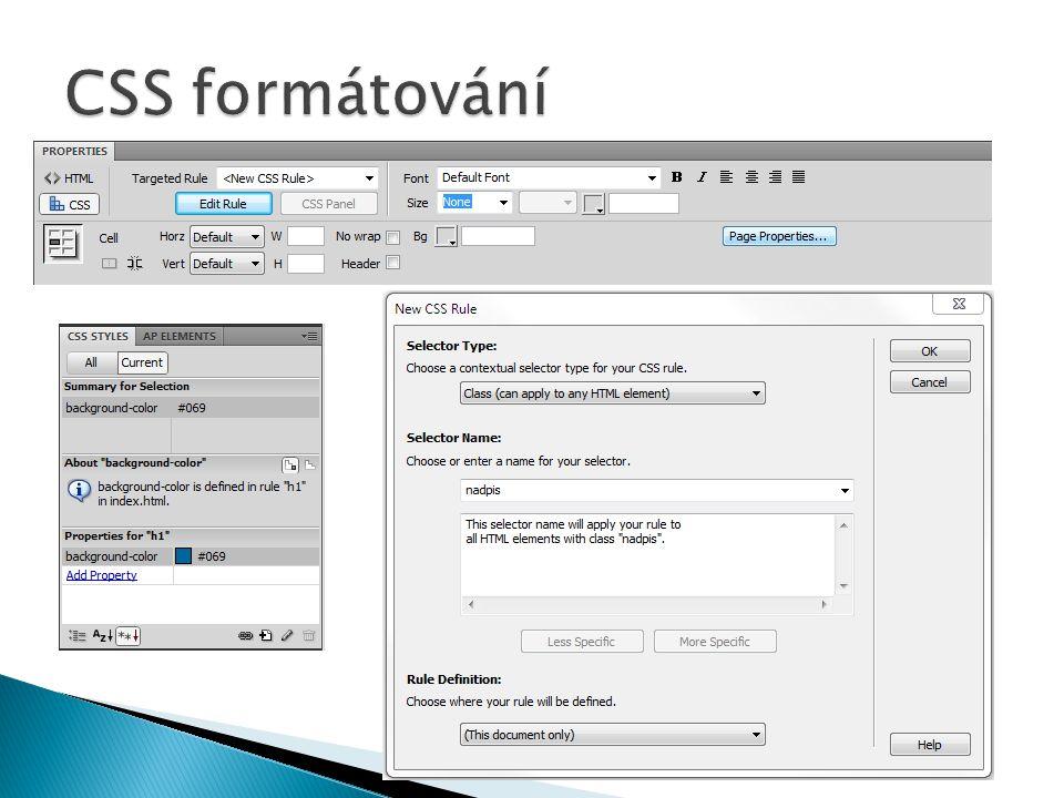 CSS formátování