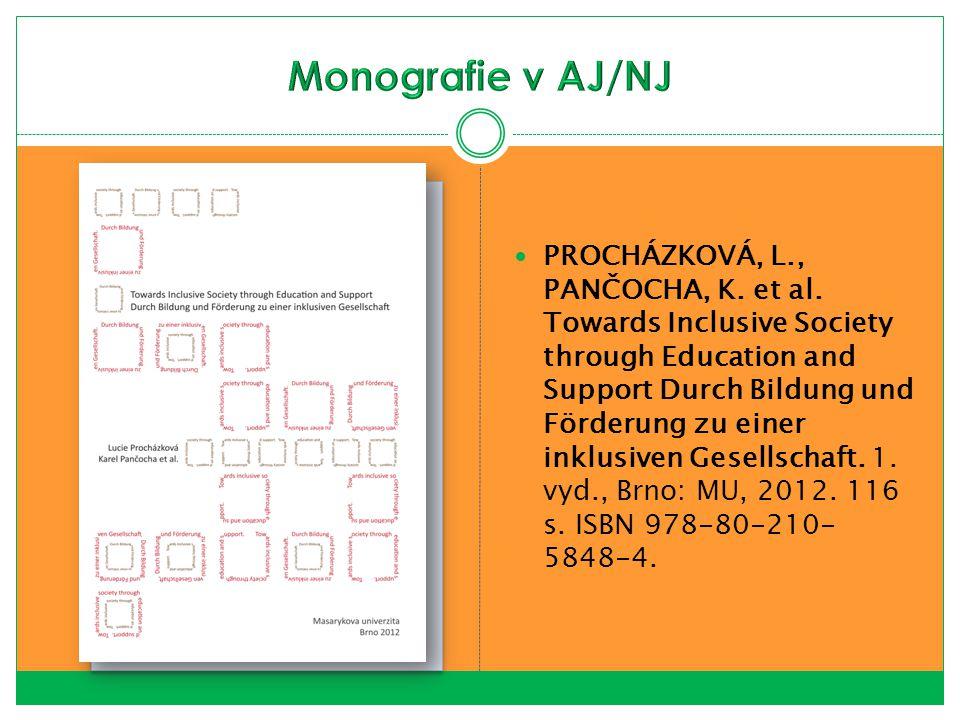 Monografie v AJ/NJ