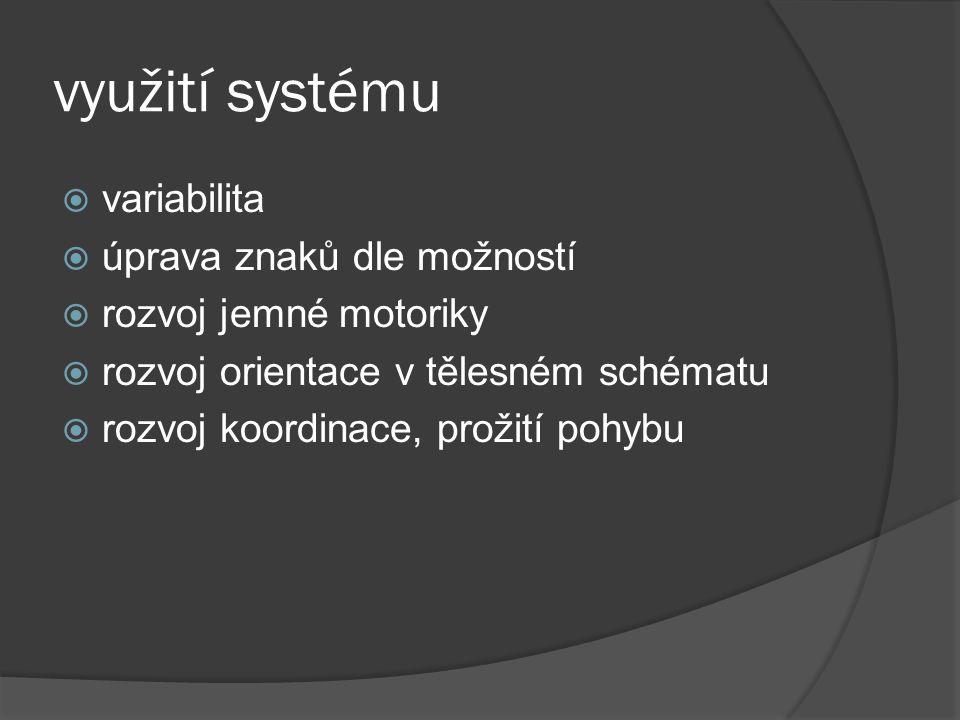 využití systému variabilita úprava znaků dle možností