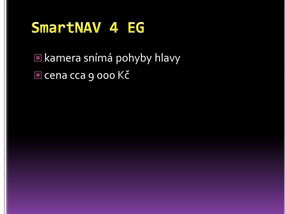 SmartNAV 4 EG kamera snímá pohyby hlavy cena cca 9 000 Kč