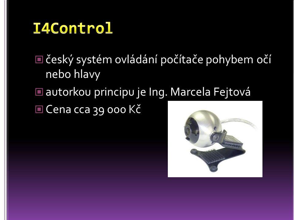 I4Control český systém ovládání počítače pohybem očí nebo hlavy