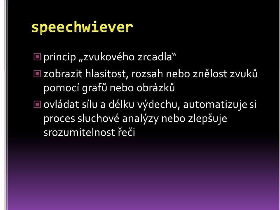 """speechwiever princip """"zvukového zrcadla"""
