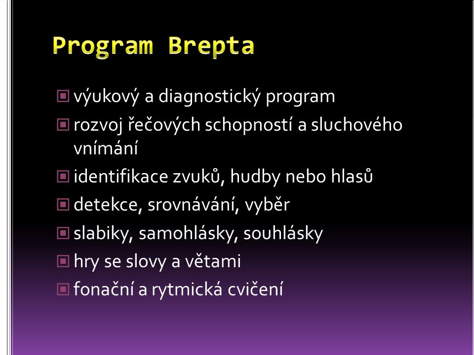 Program Brepta výukový a diagnostický program