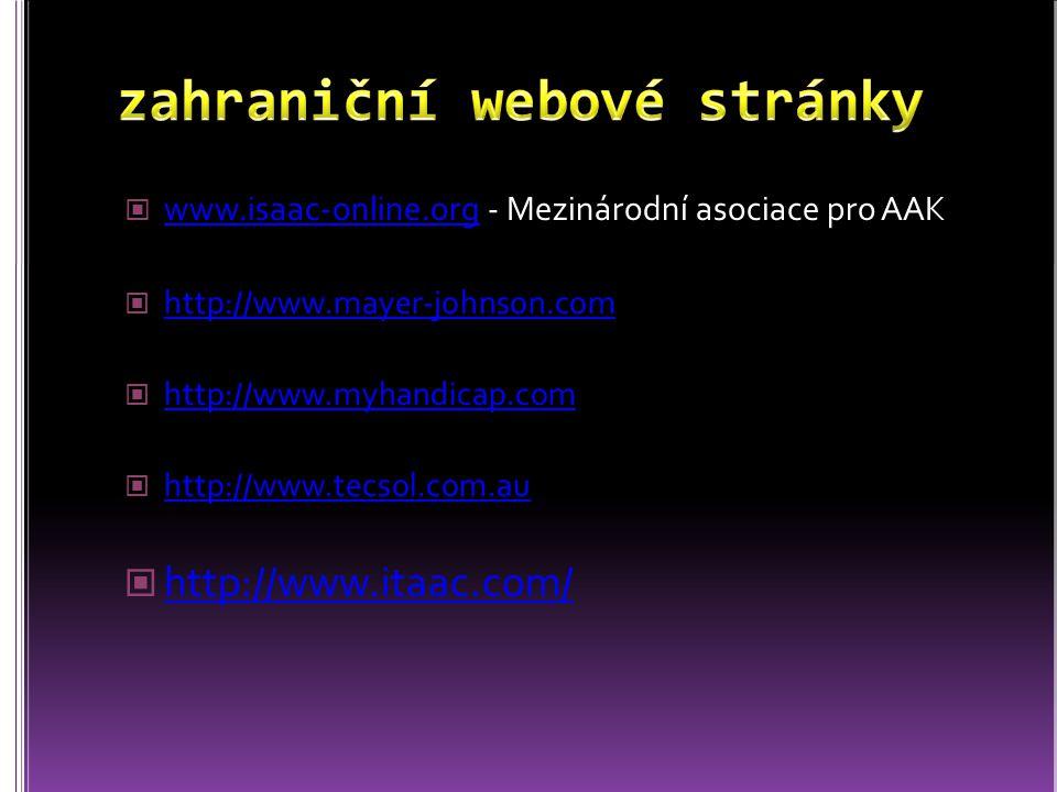 zahraniční webové stránky