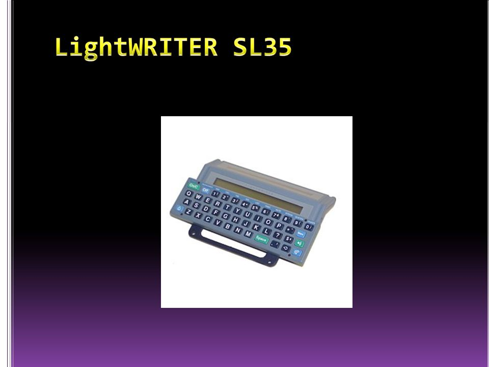 LightWRITER SL35