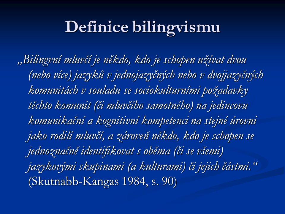 Definice bilingvismu