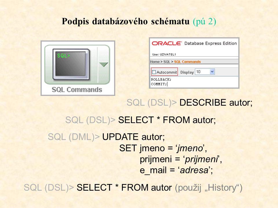Podpis databázového schématu (pú 2)