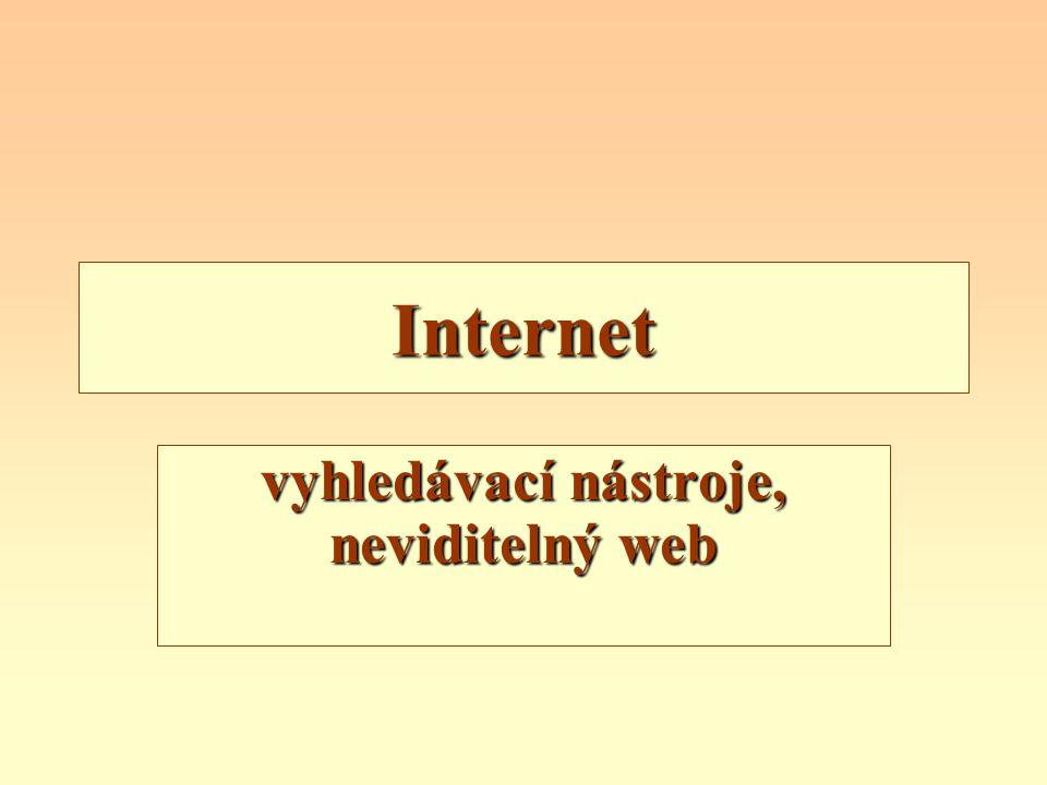 vyhledávací nástroje, neviditelný web