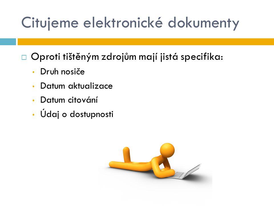 Citujeme elektronické dokumenty