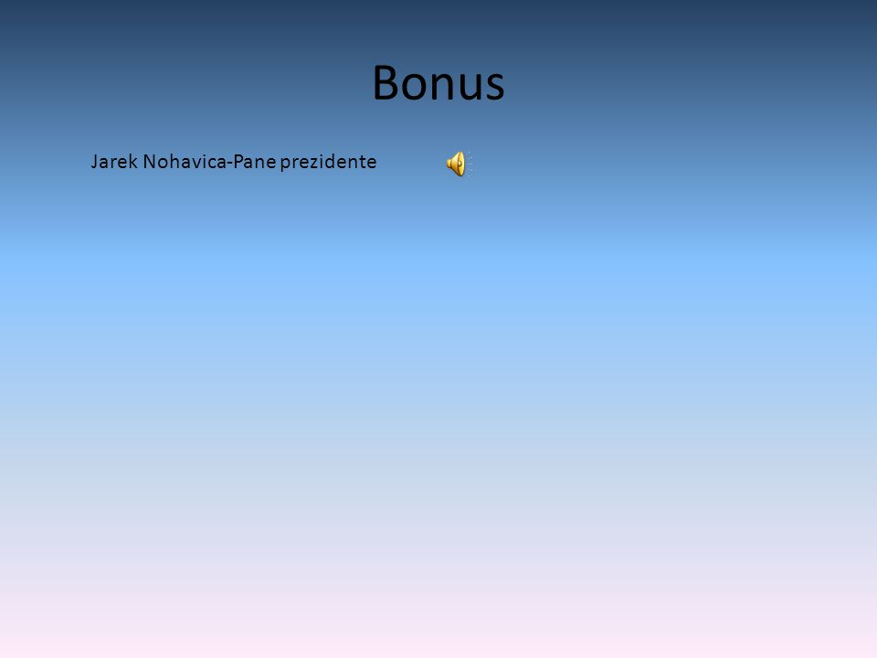 Bonus Jarek Nohavica-Pane prezidente