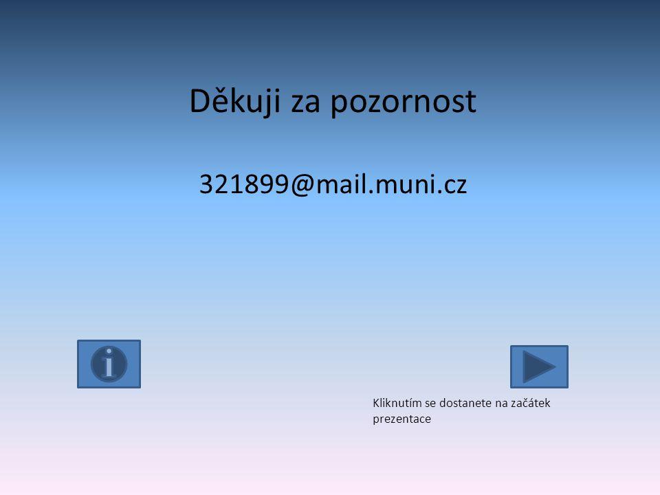Děkuji za pozornost 321899@mail.muni.cz