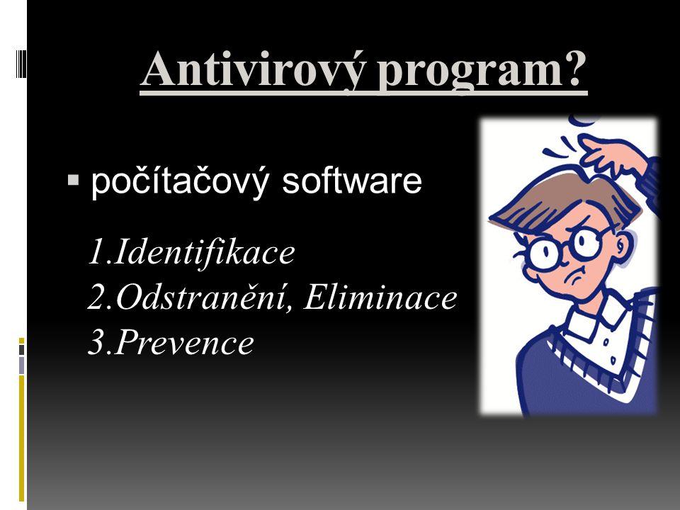 Antivirový program počítačový software Identifikace