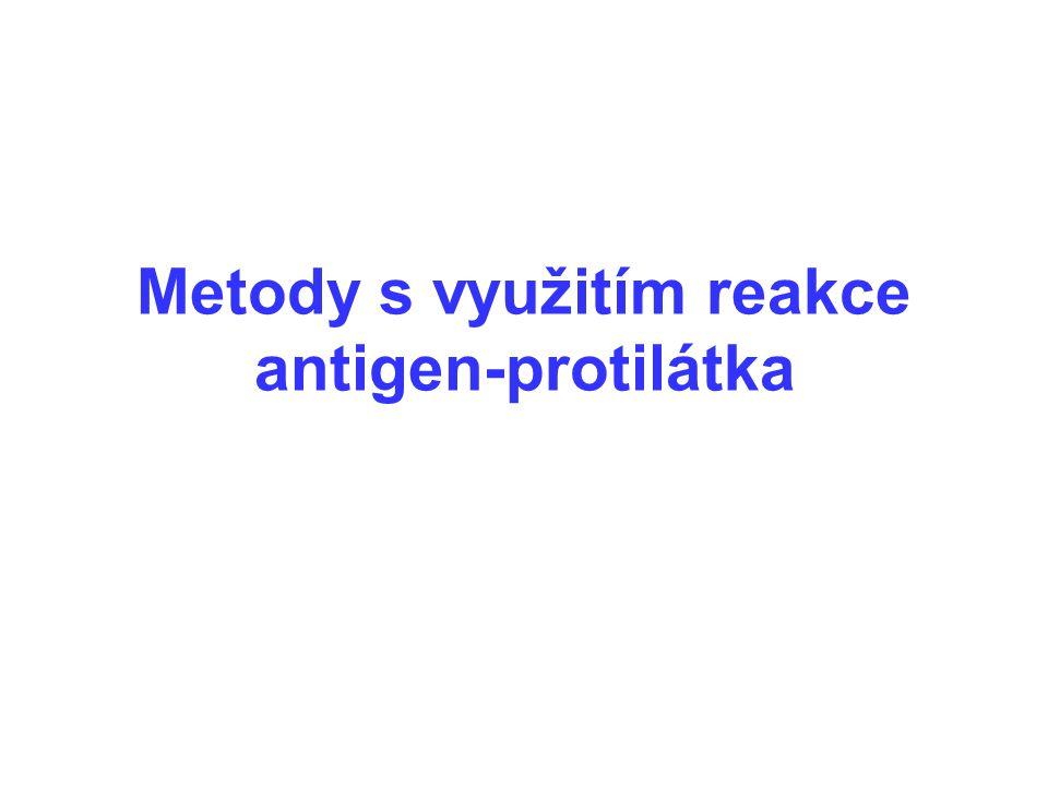 Metody s využitím reakce antigen-protilátka