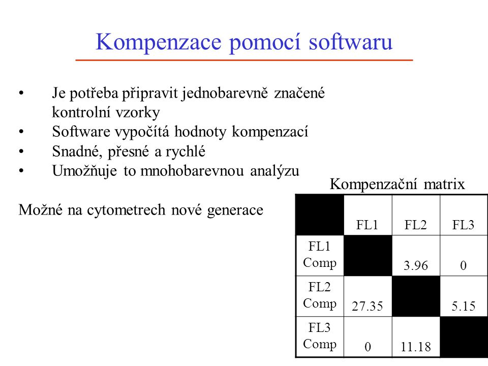 Kompenzace pomocí softwaru