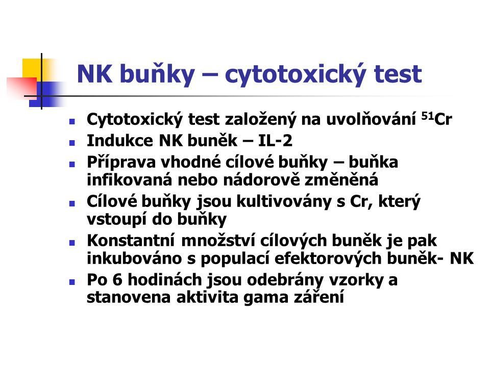 NK buňky – cytotoxický test