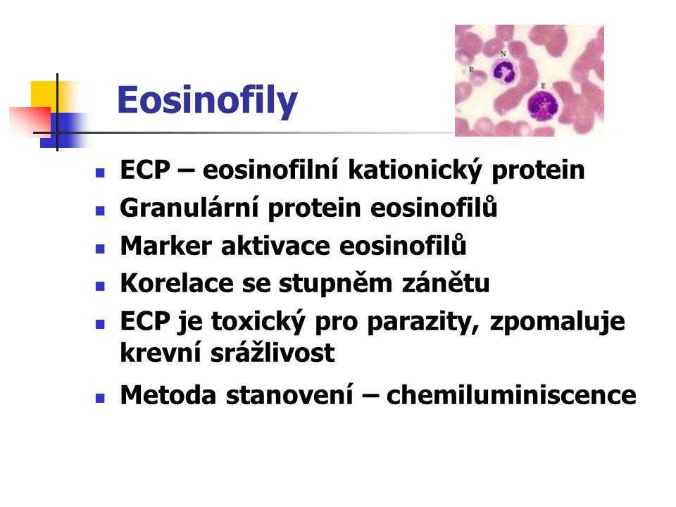 Eosinofily ECP – eosinofilní kationický protein