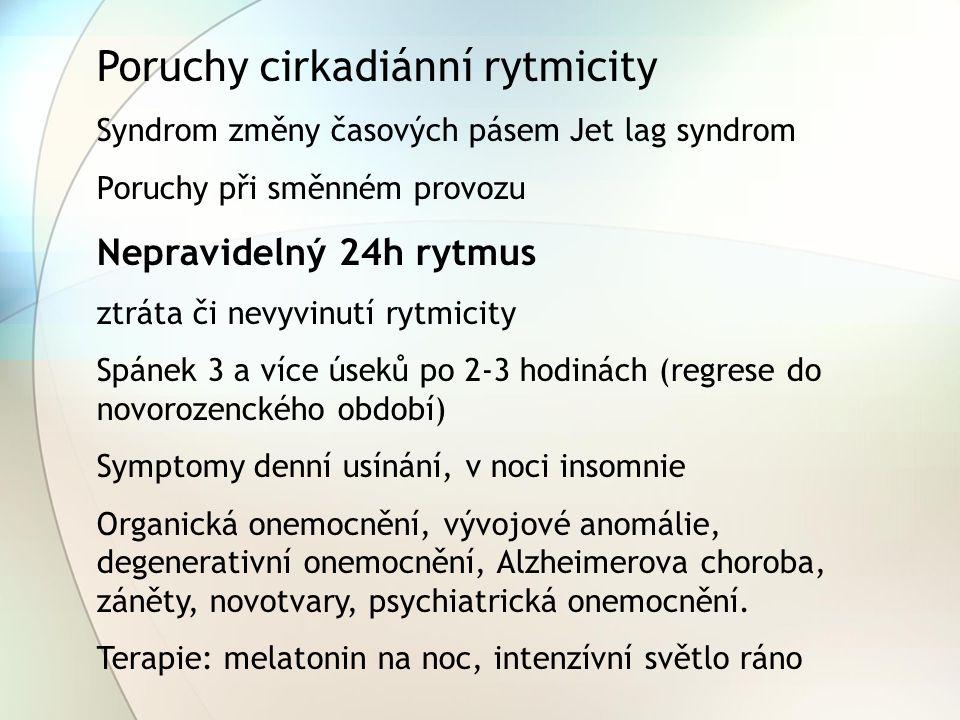 Poruchy cirkadiánní rytmicity