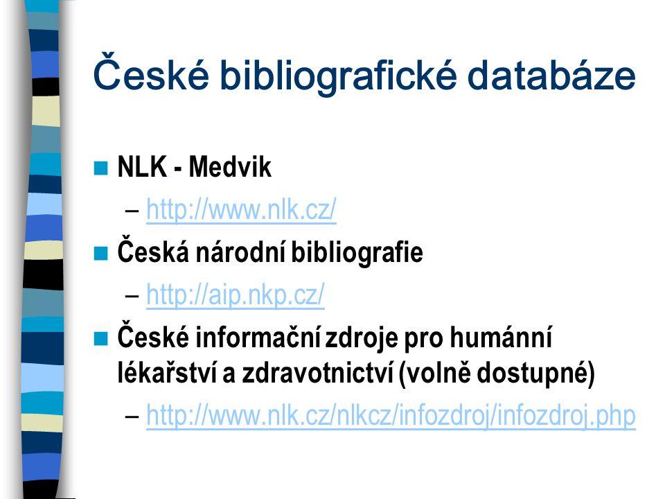 České bibliografické databáze