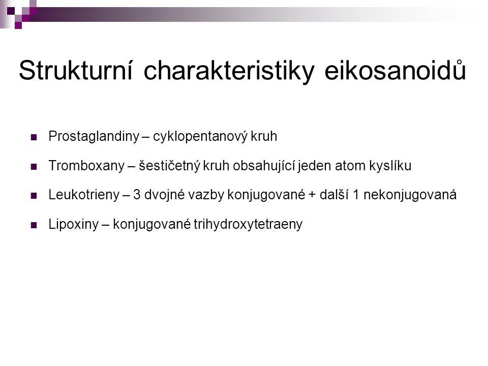 Strukturní charakteristiky eikosanoidů