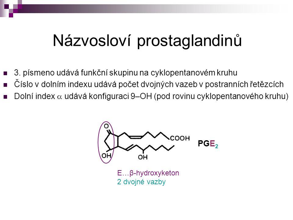 Názvosloví prostaglandinů