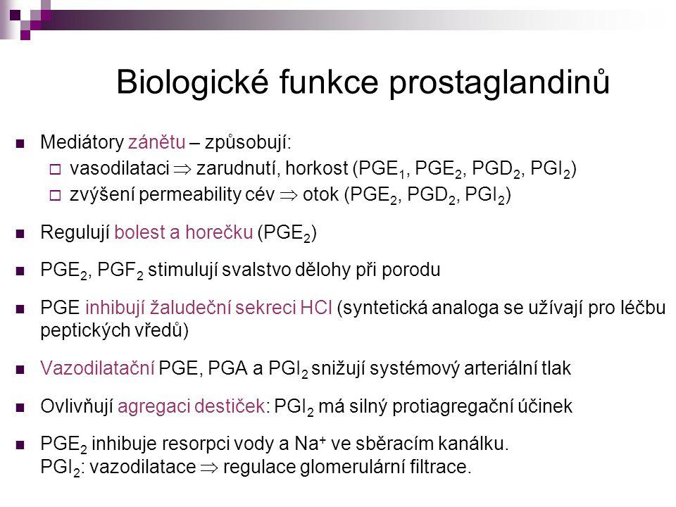 Biologické funkce prostaglandinů