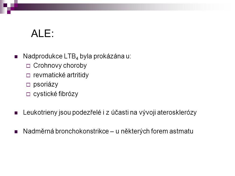 ALE: Nadprodukce LTB4 byla prokázána u: Crohnovy choroby