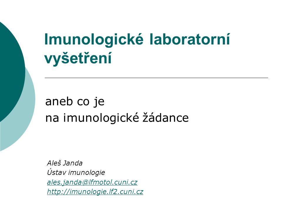 Imunologické laboratorní vyšetření