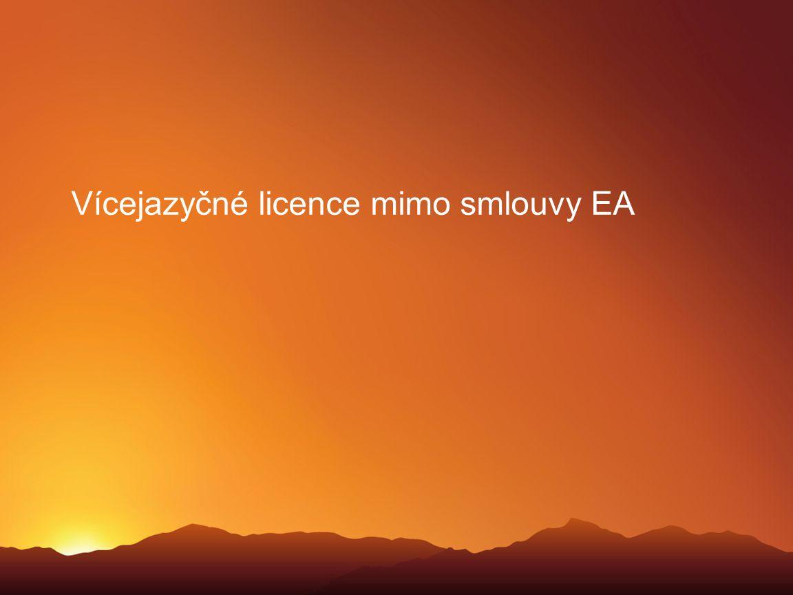 Vícejazyčné licence mimo smlouvy EA
