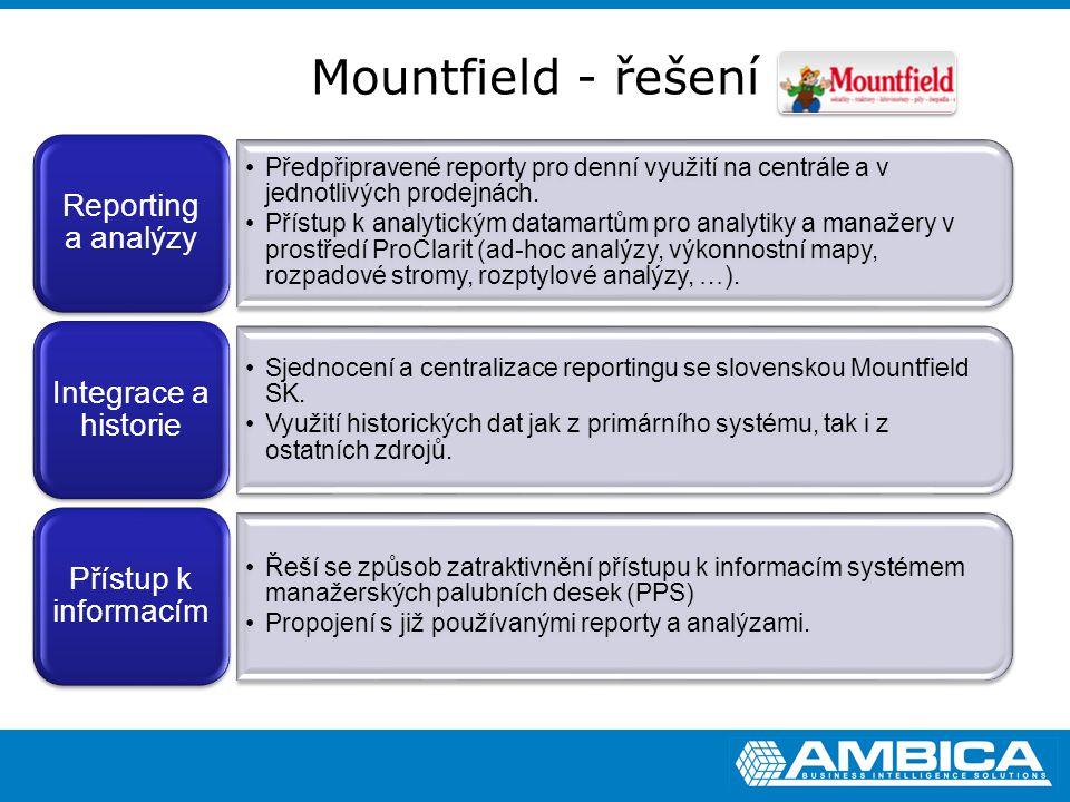Mountfield - řešení Reporting a analýzy
