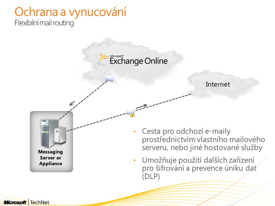 Ochrana a vynucování Flexibilní mail routing