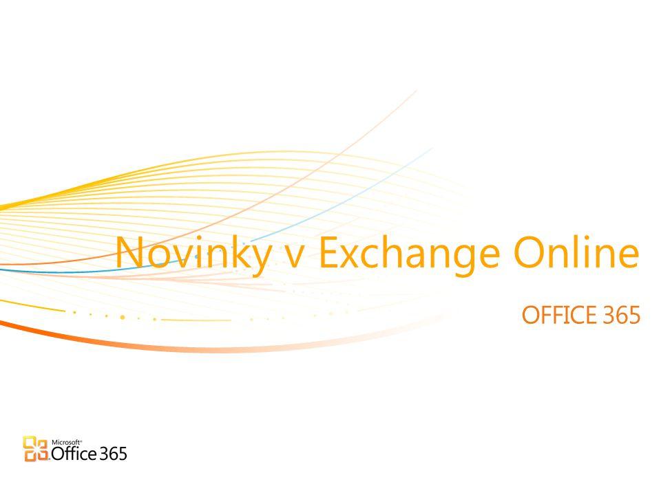 Novinky v Exchange Online