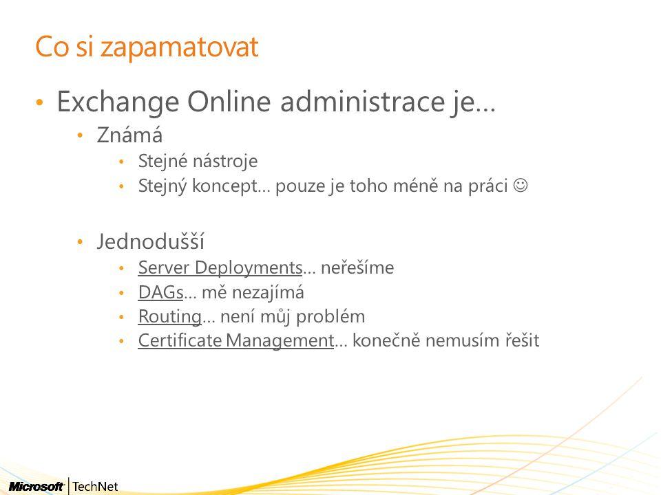 Exchange Online administrace je…