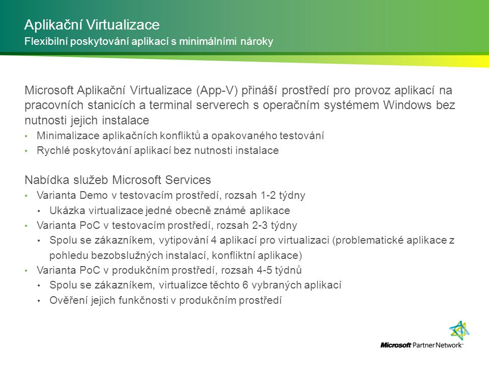 Aplikační Virtualizace