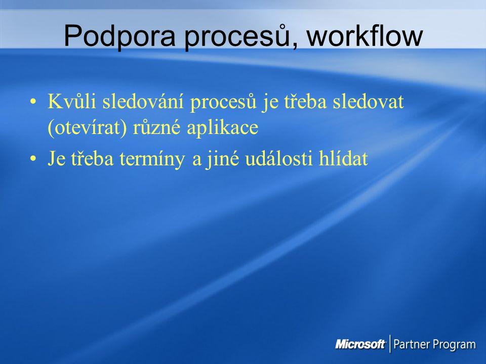 Podpora procesů, workflow