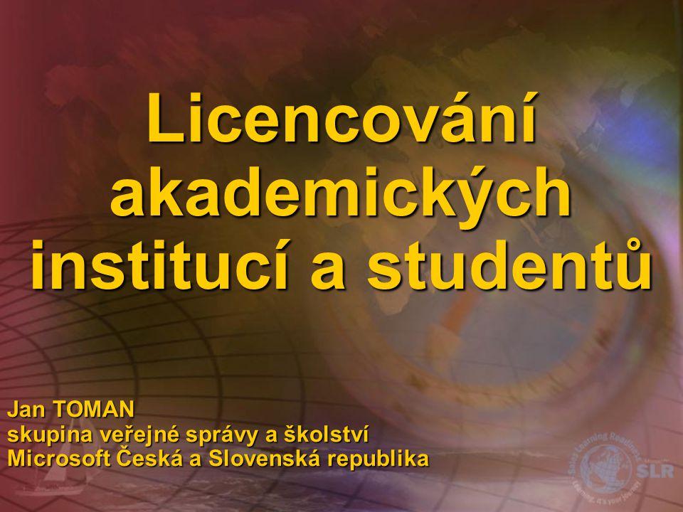 Licencování akademických institucí a studentů