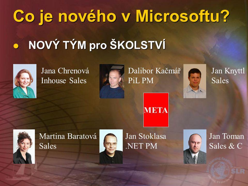 Co je nového v Microsoftu